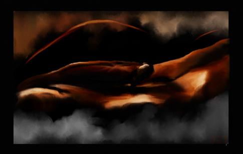 """Heat"" digital oil painting"